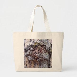 Jumbo tote featuring tree bark photo. jumbo tote bag
