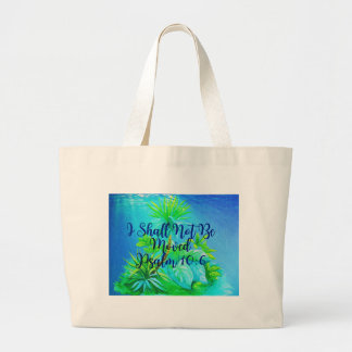 Jumbo Tote-I Shall Not Be Moved Large Tote Bag