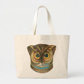 Jumbo Tote Owl vintage illustration Jumbo Tote Bag