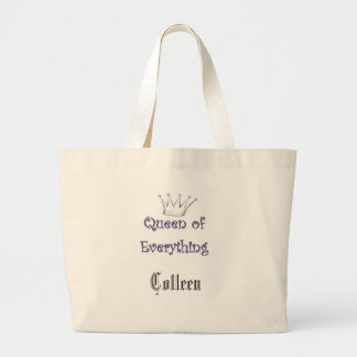 Jumbo Tote_ Queen of Everything Large Tote Bag