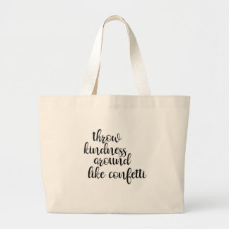 Jumbo Tote with Inspirational Message