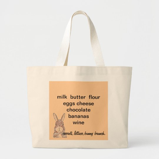 Jumbo Tote with shopping reminder