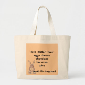 Jumbo Tote with shopping reminder Canvas Bag