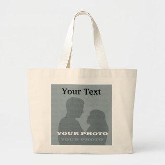 Jumbo Tote Your Photo Text Template Tote Bag