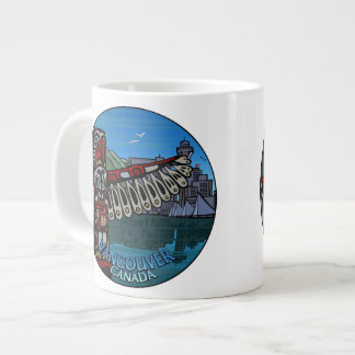 Jumbo Vancouver Coffee Mug Native Art Landmark Cup Jumbo Mug