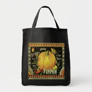 JumboTote Bag with Vintage Pumpkin Ad