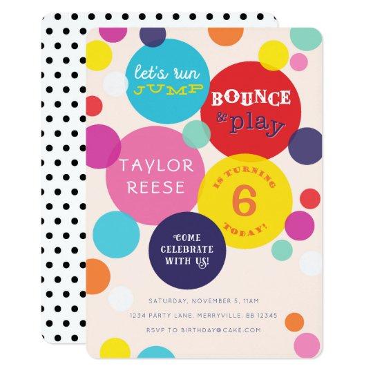 Jump Bounce House Birthday Invitation