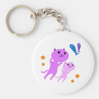 Jump Cat Basic Round Button Key Ring