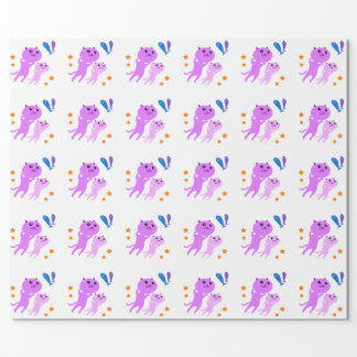 Jump Cat Wrapping Paper