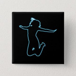 Jump for Joy 15 Cm Square Badge