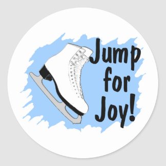 Jump For Joy Blue Skate Round Sticker