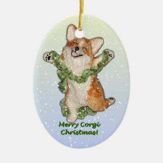 Jump for Joy! Corgi Christmas Ornament
