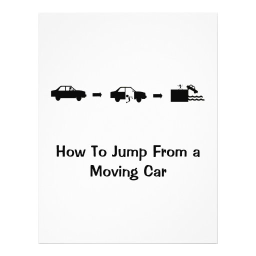 Jump From a Moving Car Flyer
