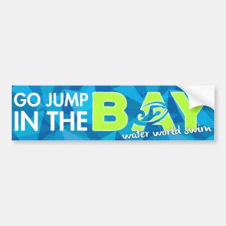 Jump in the bay bumper sticker