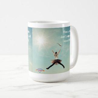 """Jump"" inspirational coffee mug"