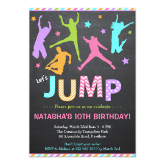 Jump Invitation / Trampoline Invitation