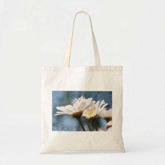Jump more fever - A sea OF of daisies against A bl Budget Tote Bag