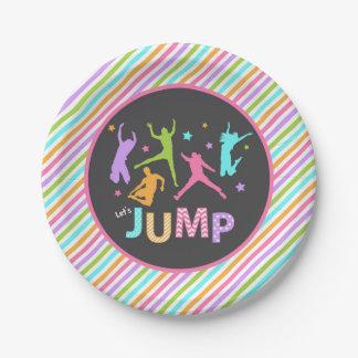 Jump paper plate / trampoline paper plate