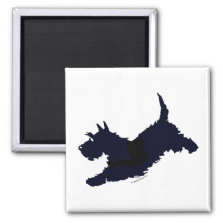 Jump!  Scottish Terrier on the Go Magnets