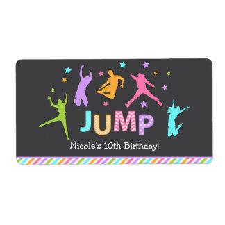 Jump Water bottle labels / trampoline bottle label