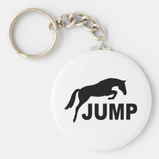 JUMP with Jumping Horse Basic Round Button Key Ring