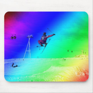 Jump with the mountain mouse pad