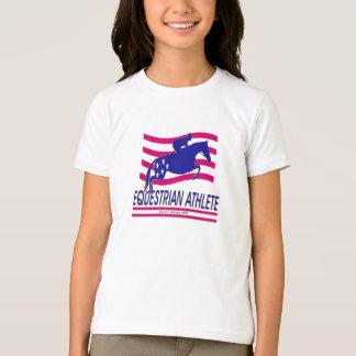 Jumper Equestrian Athlete Girls Ringer T-shirt