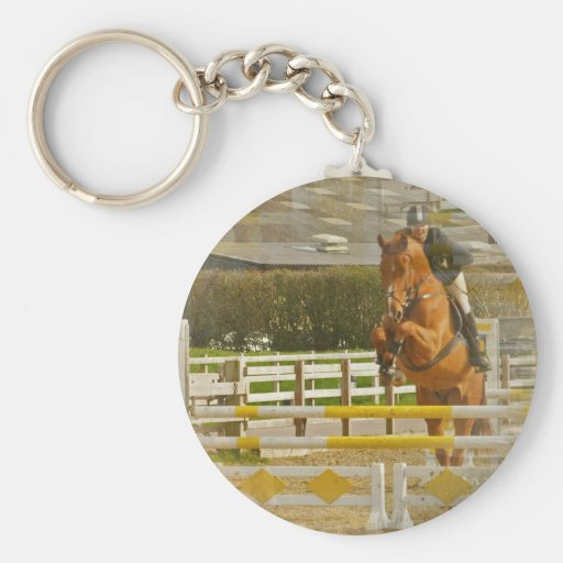 Jumper Horse Show Keychain