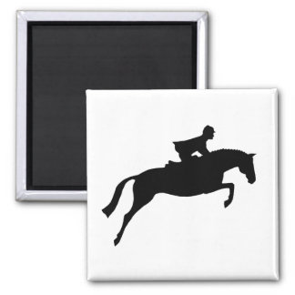 Jumper Horse Silhouette Magnet