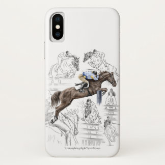Jumper Horses Fences Montage iPhone X Case