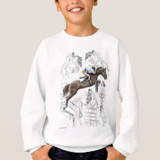 Jumper Horses Fences Montage Sweatshirt