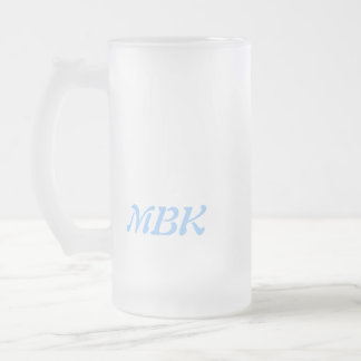 Jumpers and Jammers Frosty Beer w. initials Frosted Glass Beer Mug