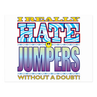 Jumpers Hate Face Postcard