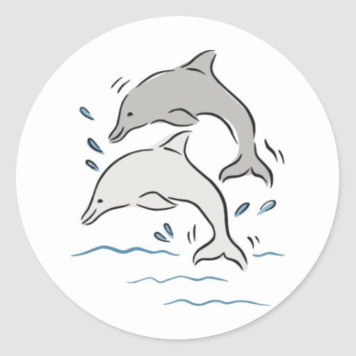 Jumpin' Dolphins Stickers