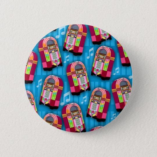 Jumpin Neon Jukebox Pattern 6 Cm Round Badge