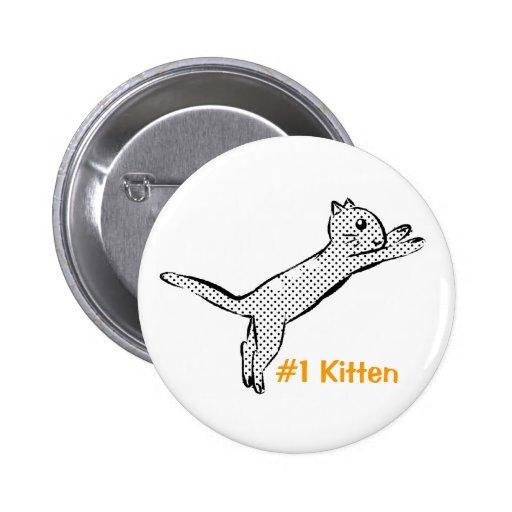 Jumping #1 Kitten Button