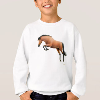 Jumping Bay Horse Kids Sweatshirt