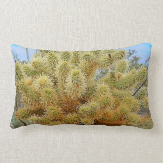 Jumping Cactus Lumbar Throw Pillow