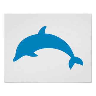 Jumping dolphin print