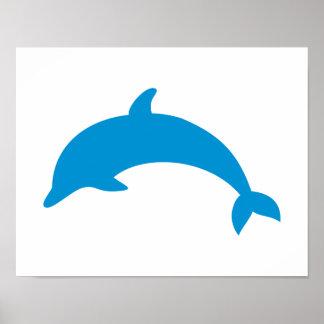 Jumping dolphin print