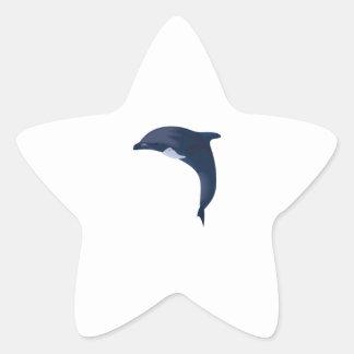 JUMPING DOLPHIN STAR STICKER