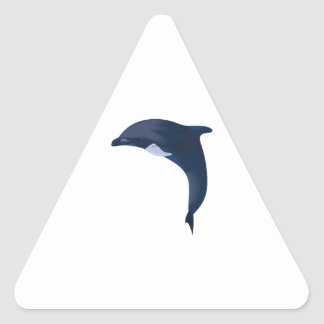 JUMPING DOLPHIN TRIANGLE STICKER