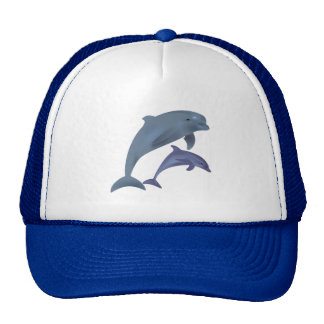Jumping dolphins illustration cap