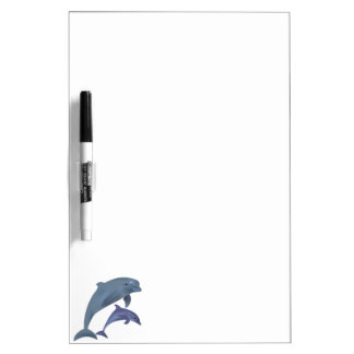 Jumping dolphins illustration dry erase whiteboard