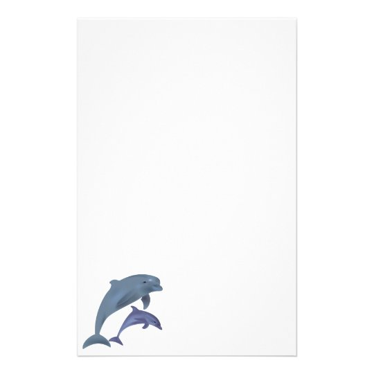 Jumping dolphins illustration stationery