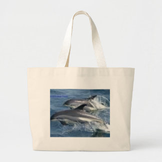 Jumping Dolphins Large Tote Bag