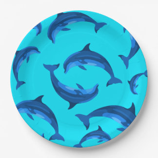 Jumping Dolphins Tropical Summer Party Plates