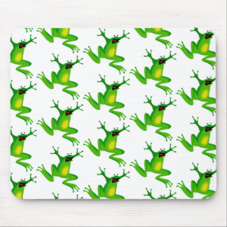 Jumping Frogs Mouse Pads
