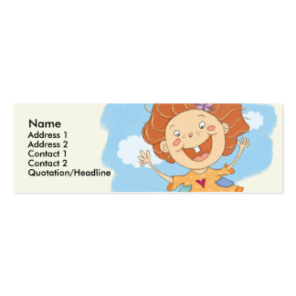 Jumping Girl Skinny Profile Cards Business Cards