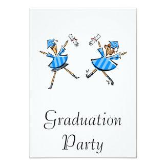 Jumping Grads 13 Cm X 18 Cm Invitation Card